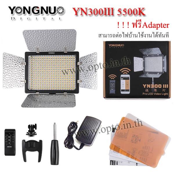 YN300 III 5500K YongNuo LED Video Light(Mobile Phone Control)ไฟต่อเนื่องสำหรับถ่ายภาพและวีดีโอ