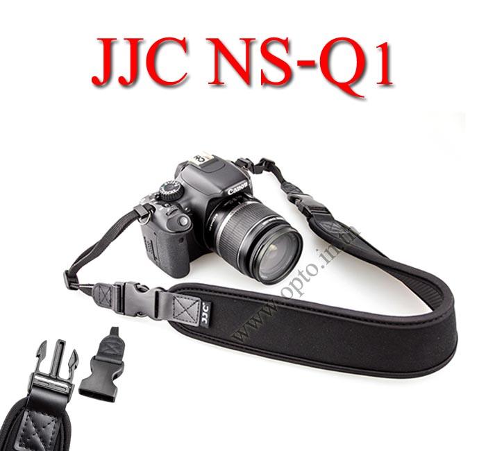NS-Q1 JJC Joint Quick Starp Neck Strap for DSLR Neoprene black สายคล้องคอแบบมีคลิ๊ปล็อคถอดสายได้