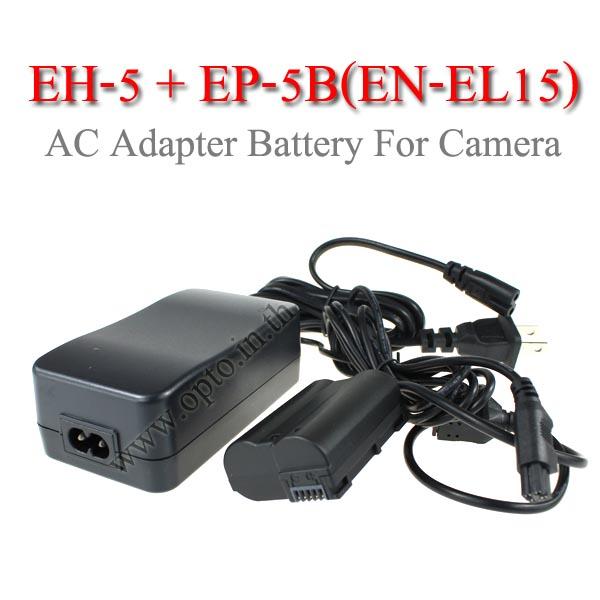 EH-5 + EP-5B AC Adapter Battery EN-EL15 for NikonCamera D810 D800 D600 D7200แบตเตอรี่แบบเสียบปลั๊กไฟ