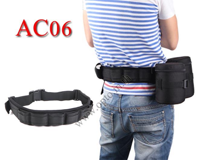 AC06 Lens Flash Belt Eirmai เข็มขัดใส่เลนส์ แฟลช กระเป๋าเก็บเม็มและแบตเตอรี่