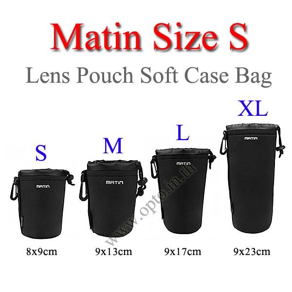 Size S Matin Lens Pouch Soft Case กระเป๋าใส่เลนส์แบบซอฟ์ทเคส กว้าง8*สูง9cm