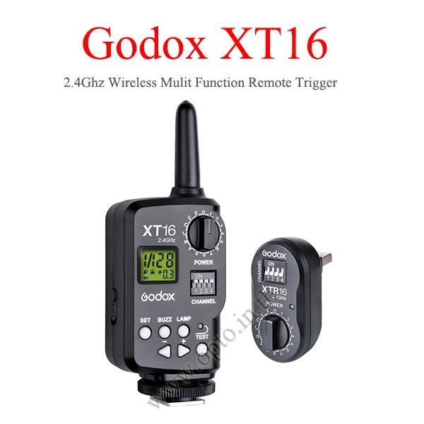 XT-16 Wireless 2.4Ghz Control For Flash Godox QS QT Series DE300 AD360 แฟลชทริกเกอร์โกดอก