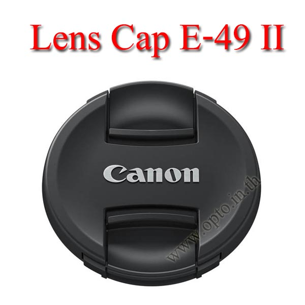 E-49 II Lens Cap Canon Logo 49mm. ฝาปิดหน้าเลนส์แคนน่อน