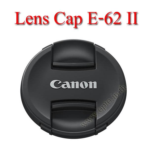 E-62 II Lens Cap Canon Logo 62mm. ฝาปิดหน้าเลนส์แคนน่อน