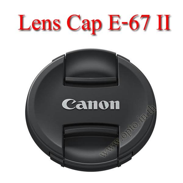 E-67 II Lens Cap Canon Logo 67mm. ฝาปิดหน้าเลนส์แคนน่อน