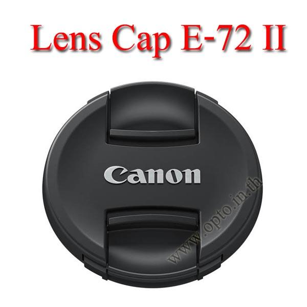 E-72 II Lens Cap Canon Logo 72mm. ฝาปิดหน้าเลนส์แคนน่อน