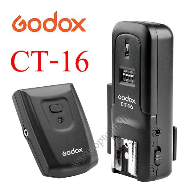 Godox CT-16 Set Wireless Radio Flash Trigger Transmitter + Receiver For Sony Canon Nikon