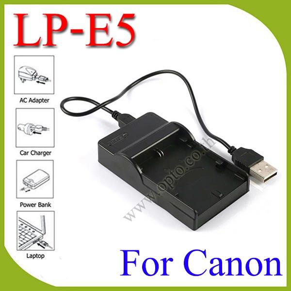 USB LP-E5 Battery Charger แท่นชาร์จสำหรับแบตเตอรี่Canon LP-E5 กล้องรุ่น 450D 500D 1000D