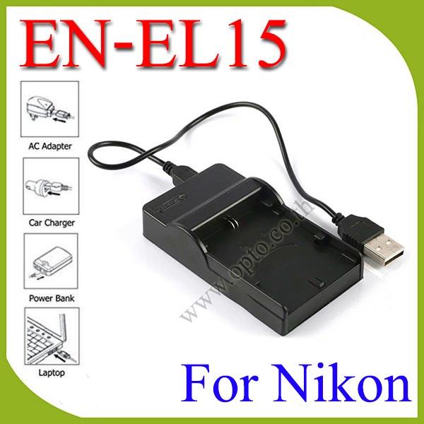 USB ENEL15BatteryChargerแท่นชาร์จสำหรับแบตเตอรี่กล้องNikon ENEL15กล้องรุ่นD7200 D600 D750 D800e D810