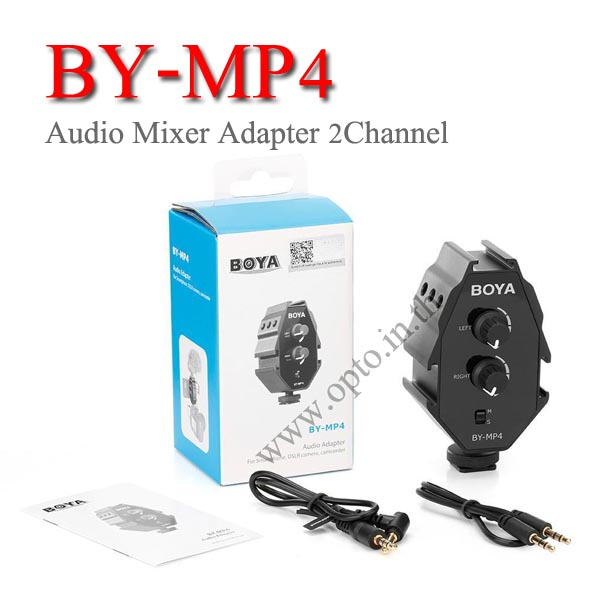 BY-MP4 Boya Audio Mixer Adapter 2Channel mono or stereo output for mobile phone SLR มิกซ์ไมค์2ช่อง