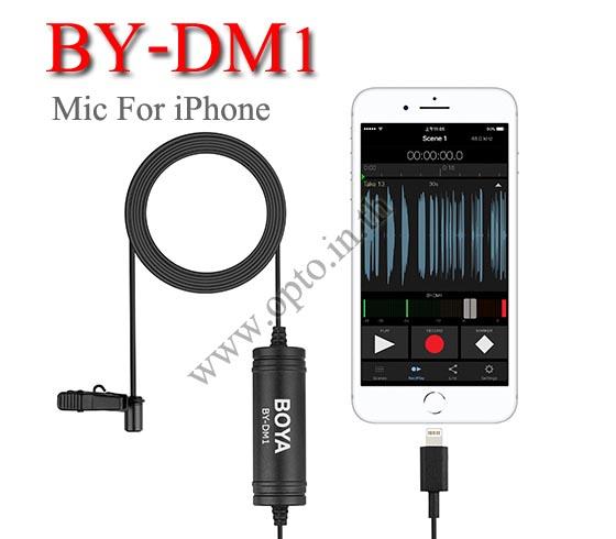 BY-DM1 Boya lavalier Microphone For Mobile iPhone ไมค์หนีบปกเสื้อสำหรับมือถือไอโฟน