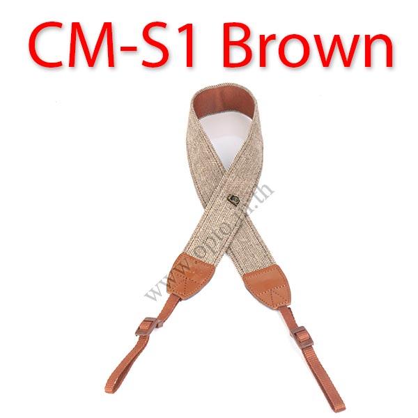 CM-S1 Brown Classic Neck Starp for DSLR สายคล้องคอกล้องสีน้ำตาล