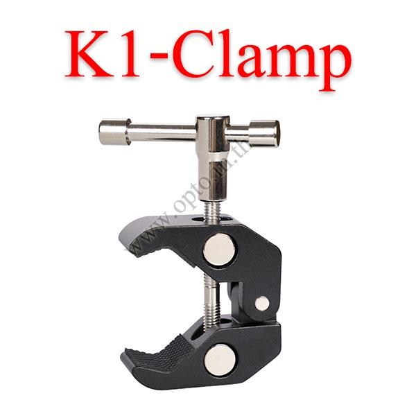 K1-Clamp metal Clamp Portable Use for size 55mm ขาจับยึดกับวัตถุไม่เกิน5.5cm