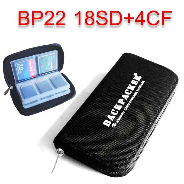 BP22 18SD+4CF Card Box Cloth for Memory SDx18 CompactFlashx4 กล่องเก็บเมมโมรี่แบบซองผ้า