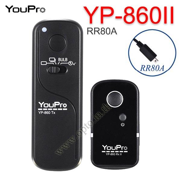 YP-860II YouPro RR-80A Wire/Wireless Remote 2.4GHz For Fuji  HS50EXR รีโมทไร้สาย