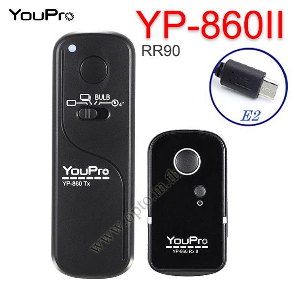 YP-860II YouPro RR-90 Wire/Wireless Remote 2.4GHz For Fuji  X-E3 T100 T20 T2 X-A5 A3 รีโมทไร้สาย