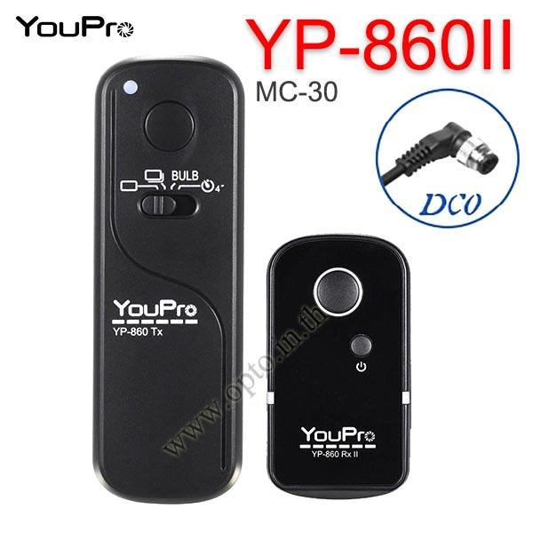 YP-860II YouPro MC-30 Wire/Wireless Remote 2.4GHz For Nikon D810 D800 D700 D300 รีโมทไร้สาย