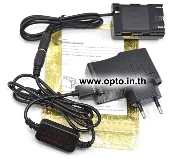 ACK-E6 USB+AC Adapter Battery LP-E6 for Canon Camera แบตเตอรี่แบบเสียบปลั๊กไฟหรือUSB