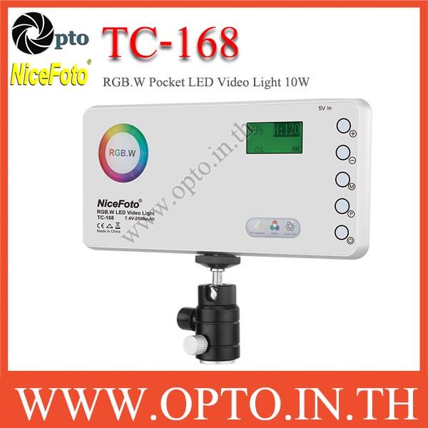TC-168 Nicefoto Full Color 2800K-9900K Video RGB LED For Camera Studio and Mobile Phone ไฟต่อเนื่อง
