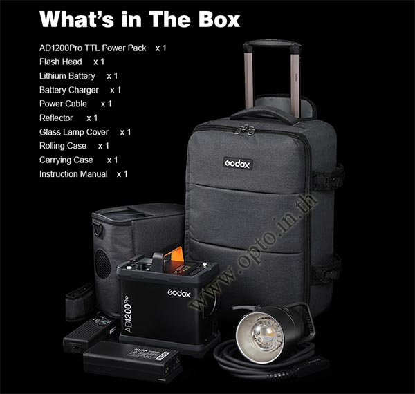 AD1200Pro Godox HSS Sync Wireless Flash Portable+Battery TTL AD1200 แฟลชพกพามีแบตเตอรี่ 5