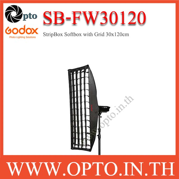 SB-FW30120 Godox Bowen\'s Mount, SoftBox With Grid, Retangular 30×120cm StripBox