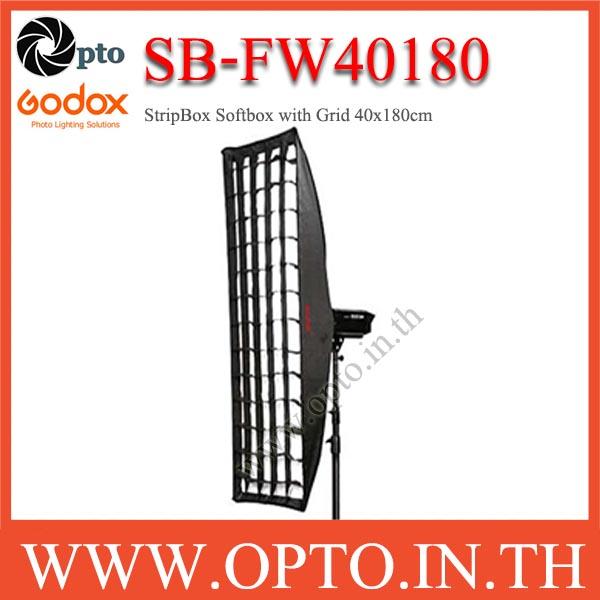SB-FW40180 Godox Bowen\'s Mount, SoftBox With Grid, Retangular 40×180cm StripBox