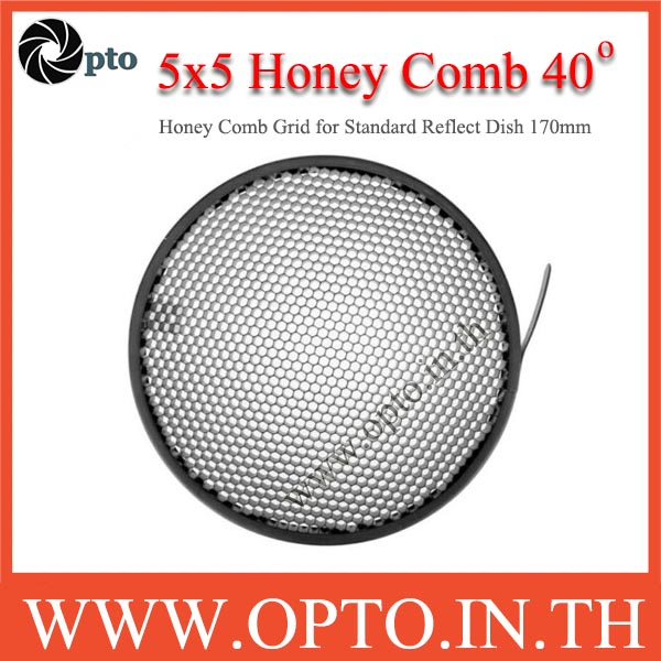 5x5mm. Honey Comb Grid 40 Degree for Standard Reflect Dish 170mm รังผึ้งสำหรับโคมไฟสตูดิโอ