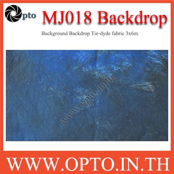 MJ018 Background Backdrop Tie-dyde fabric 3x6m. Cotton For Studio ฉากหลังเพ้นท์ลายสำหรับถ่ายภาพ