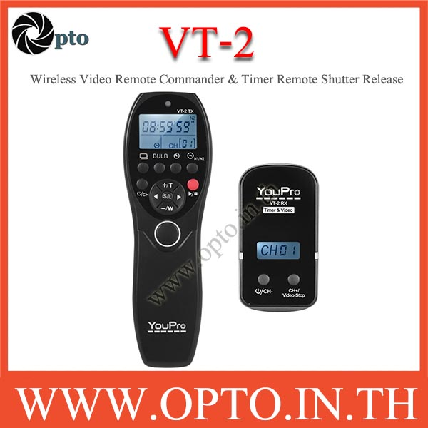 VT-2 YouPro รีโมทไร้สายรับส่งสัญญาณและตั้งเวลาสำหรับ Sony a7 a7R a7S a7 II a7S II a7R II a58 a6300 R