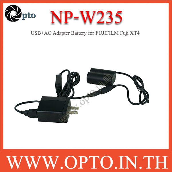 NP-W235 USB+AC Adapter Battery for FUJIFILM Fuji XT4 แบตเตอรี่แบบเสียบปลั๊กไฟหรือUSB