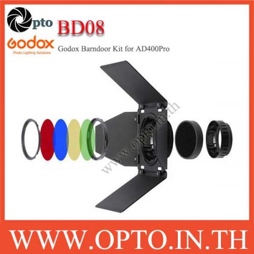 BD-08 Godox อุปกรณ์เสริม Honeycomb Grid Barnประตู + ตัวกรองสีสำหรับ Godox AD400Pro