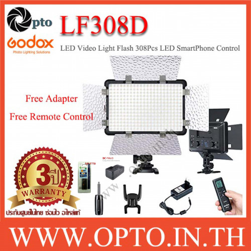 LF308D Godox 5600K LED Video Light+Flash Light+F770+BC-V615ไฟต่อเนื่อง+แบตเตอรี่