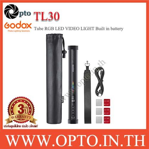 TL30 Godox Tube RGB LED VIDEO LIGHT Built in battery  ไฟต่อเนื่องแบบพกพา ถ่ายรูป ถ่ายวีดีโอ