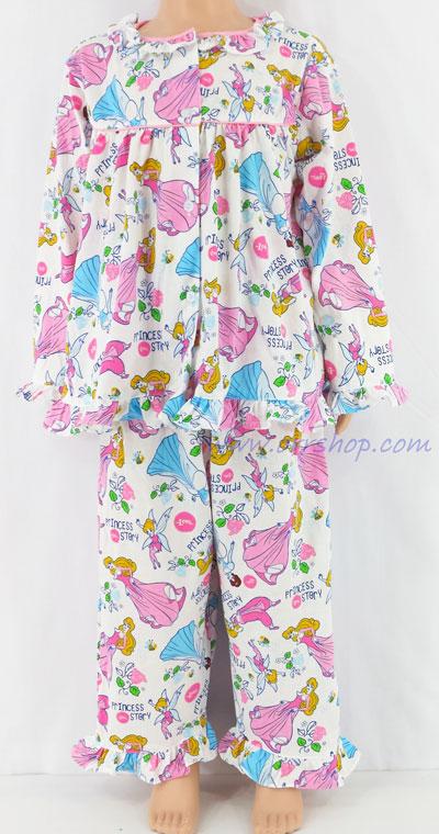 ชุดนอนเด็กหญิง ไซส์ 3-4 แขนยาว ขายาว ผ้ายืด (แบบคอระบาย กระดุมผ่าหน้ากุ๊น) คลิกดูรายละเอียดเพิ่มเติม