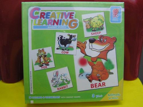Magnet Puzzle Creative Learning จิกซอว์แม่เหล็ก ชุด สัตว์บก