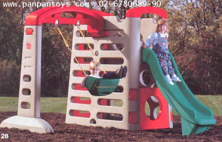 กระดานลื่นมหาสนุก + ชิงช้าเดี่ยว #  7601+7301 Big  Climber  Swing  Extension