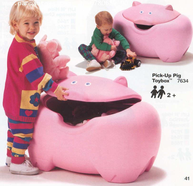 กล่องหมูใส่ของ  #  7634  Pick  Up  Pig  Toybox