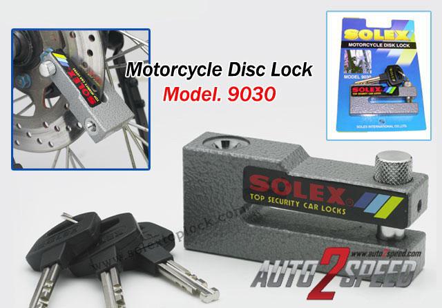 กุญแจล็อคจานดีสใหญ่ SOLEX รุ่น 9030 ดีสใหญ่ๆๆๆๆ