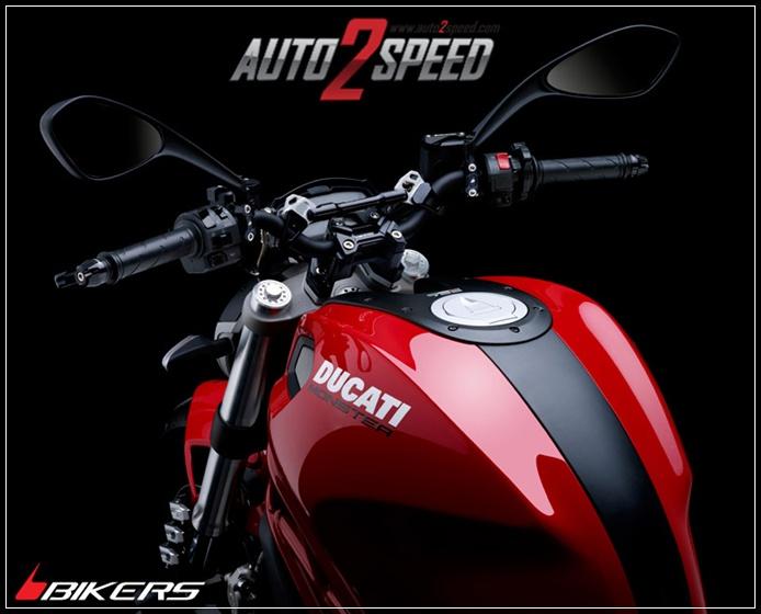 ชุดแฮนด์พร้อมแกนค้ำแฮนด์ Bikers DUCATI MONSTER795 ส่งฟรีๆๆๆ
