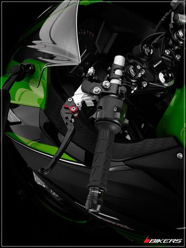 ชุดมือเบรคคลัตซ์ พับได้ปรับระดับหน้าเรียบ Bikers Ninja (2013) Z250