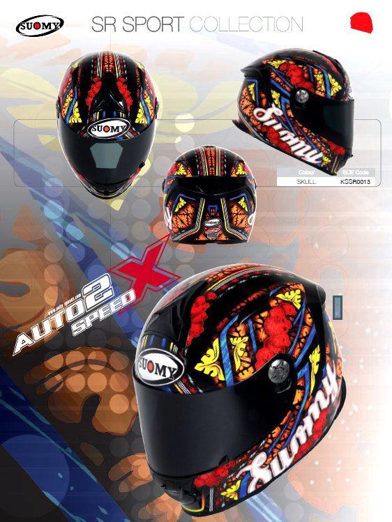 หมวกกันน็อค SUOMY SR SPORT SKULL ส่งฟรี