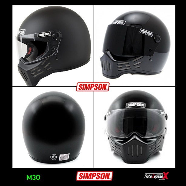 หมวกกันน็อค SIMPSON M30 BLACK