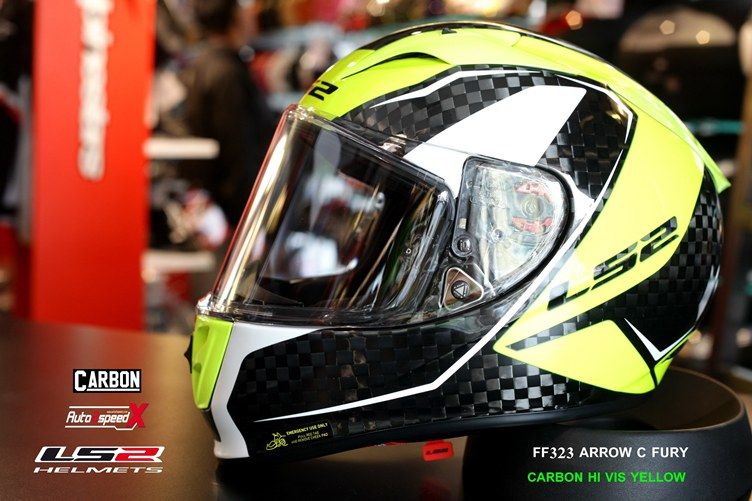 หมวกกันน็อค LS2 FF323 Arrow C Fury Carbon Hi Vis Yellow