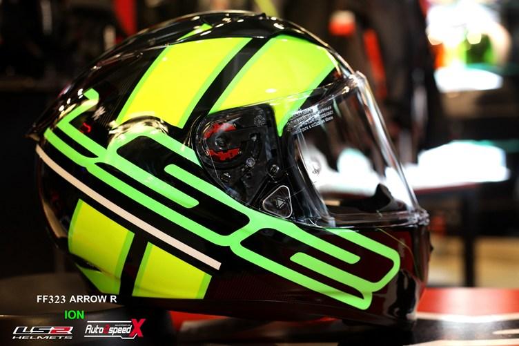 หมวกกันน็อค LS2 FF323 Arrow R Ion Black Flu Green
