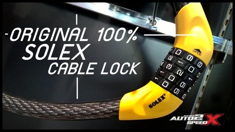 สายล็อคอเนกประสงค์ SOLEX รุ่น เส้นใหญ่ !! ตั้งรหัส
