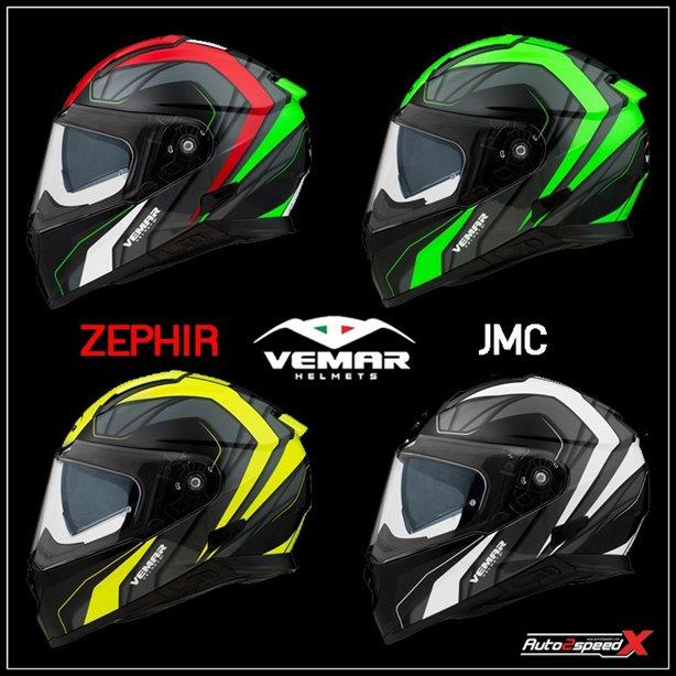 หมวกกันน็อค VEMAR ZEPHIR JMC แว่น2ชั้น ส่งฟรี