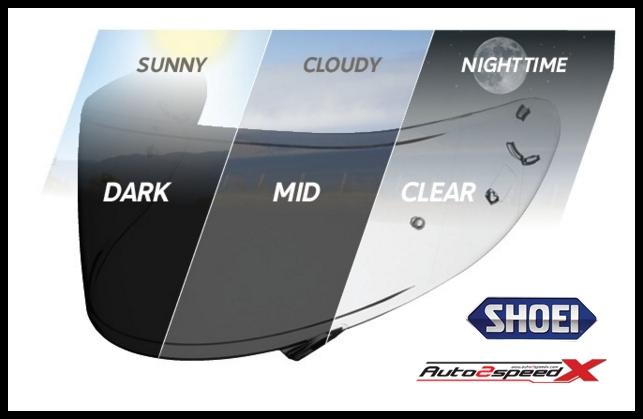 SHIELD ปรับแสง SHOEI Z7 X14 ส่งฟรี