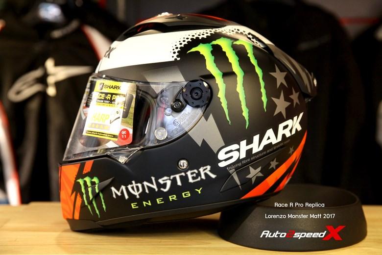หมวกกันน็อค SHARK RACE R PRO REPLICA LORENZO MONSTER 2017