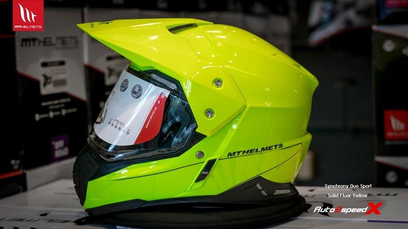 หมวกกันน็อค MT Synchorony Duo Sport Solid Fluor Yellow