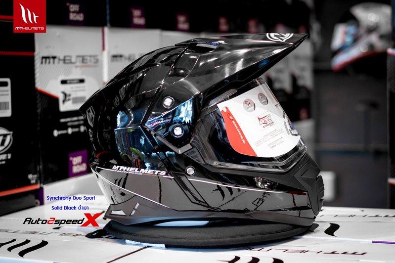 หมวกกันน็อค MT Synchorony Duo Sport Solid Black